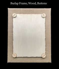 Burlap Canvas Frame & WOOD (KIT)